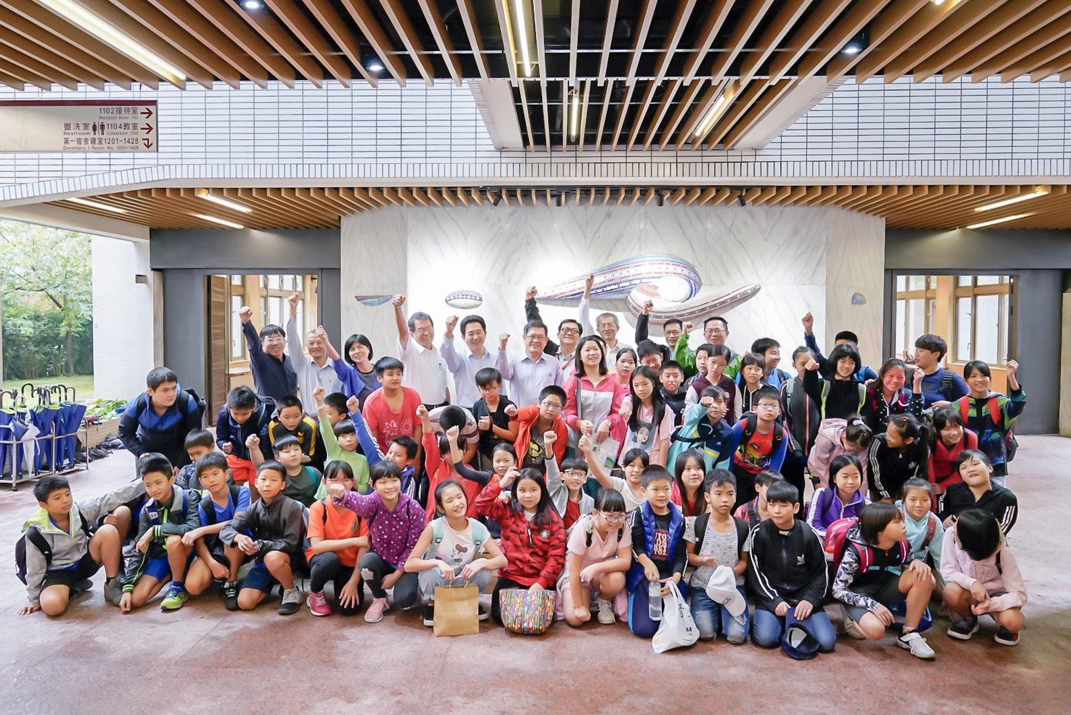 台電能源小博士環境教育推廣營歡樂開幕進行桂山電廠生態參訪闖關活動